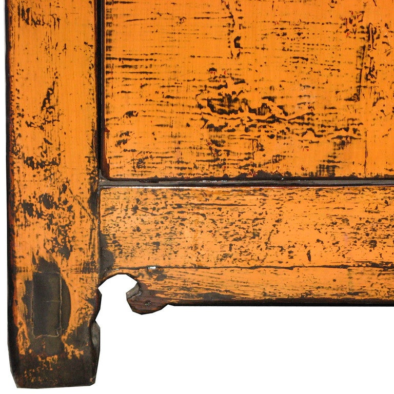 Orange Door Accent Cabinet: Antique White