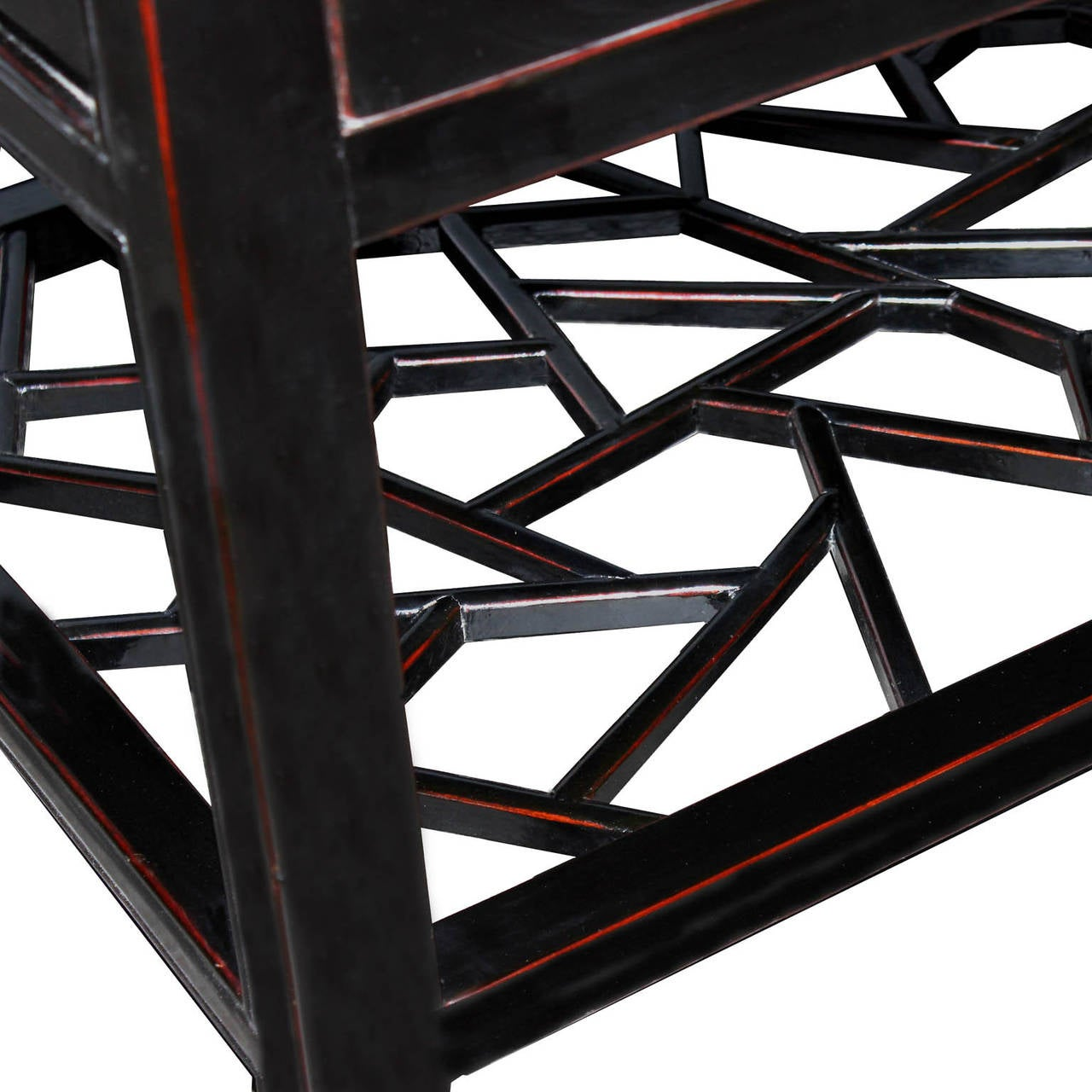 Chinese Four-Drawer Black Coffee Table For Sale