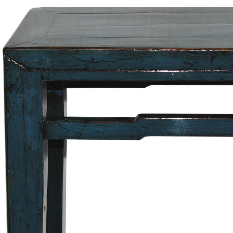 chinese navy blue console table at 1stdibs. Black Bedroom Furniture Sets. Home Design Ideas