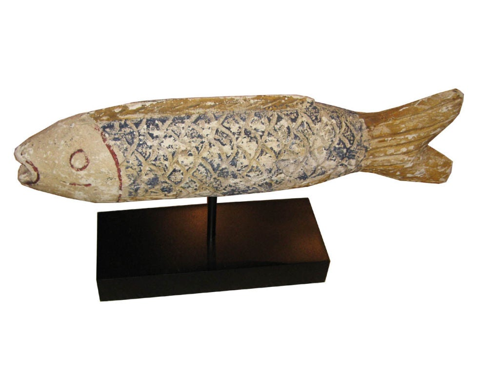 Wood carp on stand at 1stdibs for Decorative carp