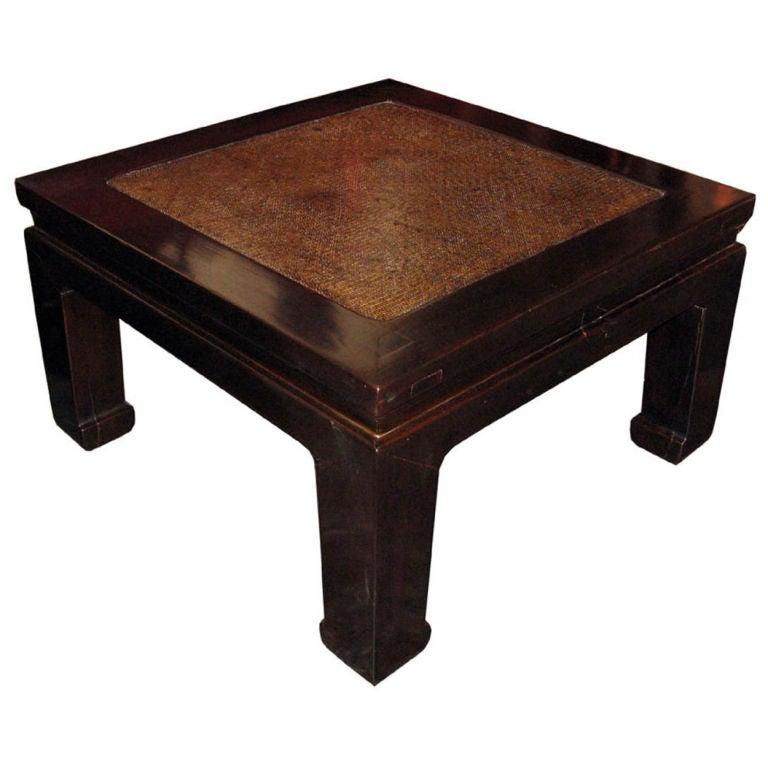 Rattan Top Coffee Table
