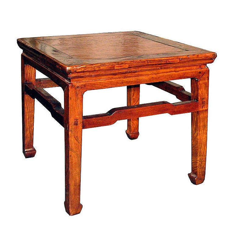 Leather Top Ming Table 1