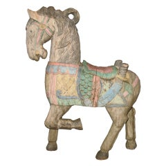 Hand Carved Wood Horse