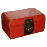 Small Red Leather Box