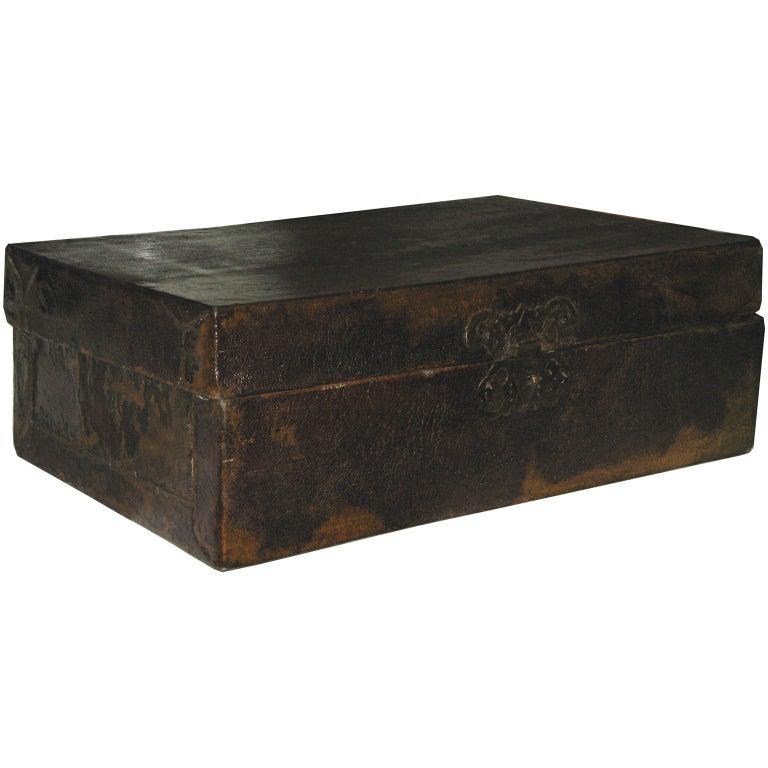 Large Chinese Leather Box