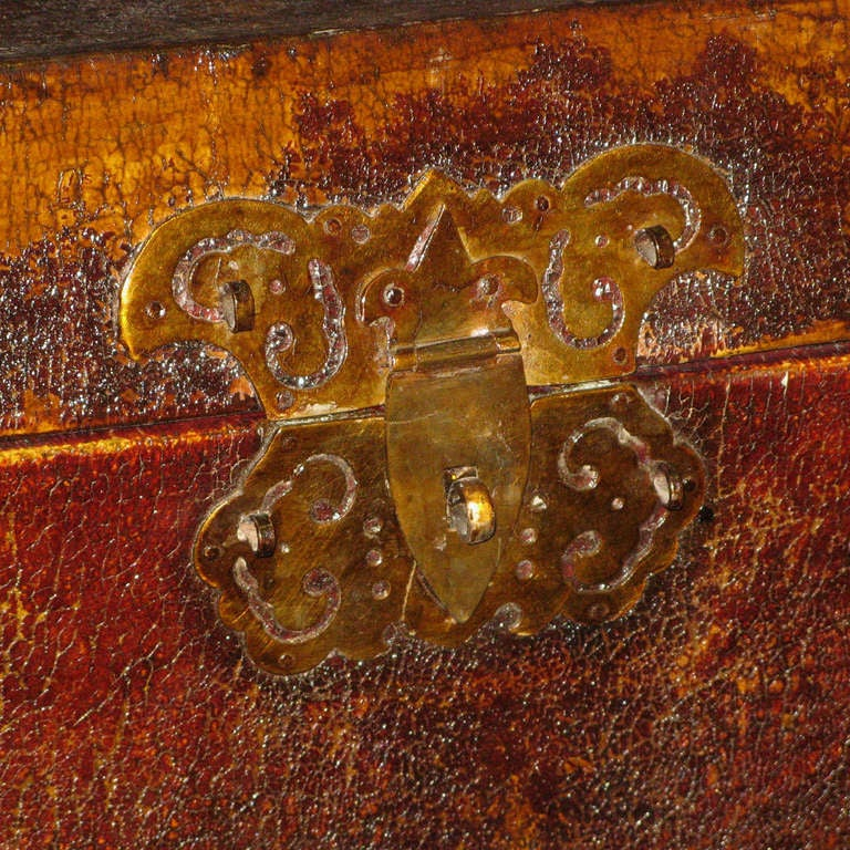19th Century Large Chinese Leather Box