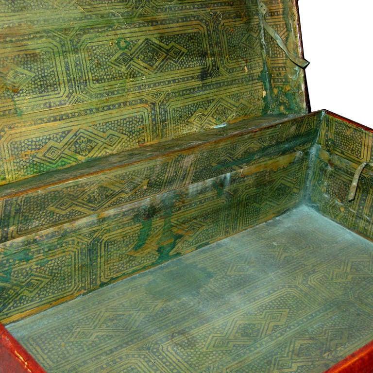 Large Chinese Leather Box 1