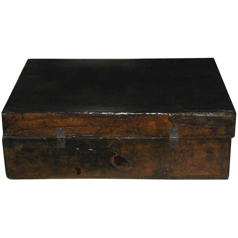 Large Chinese Leather Box 2