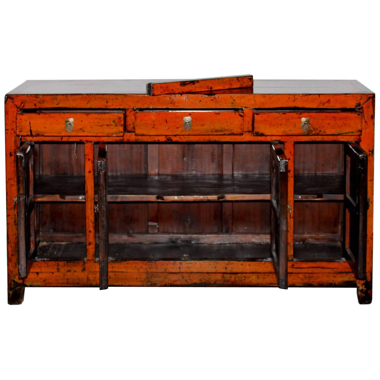 Orange dongbei buffet at 1stdibs for Sideboard orange