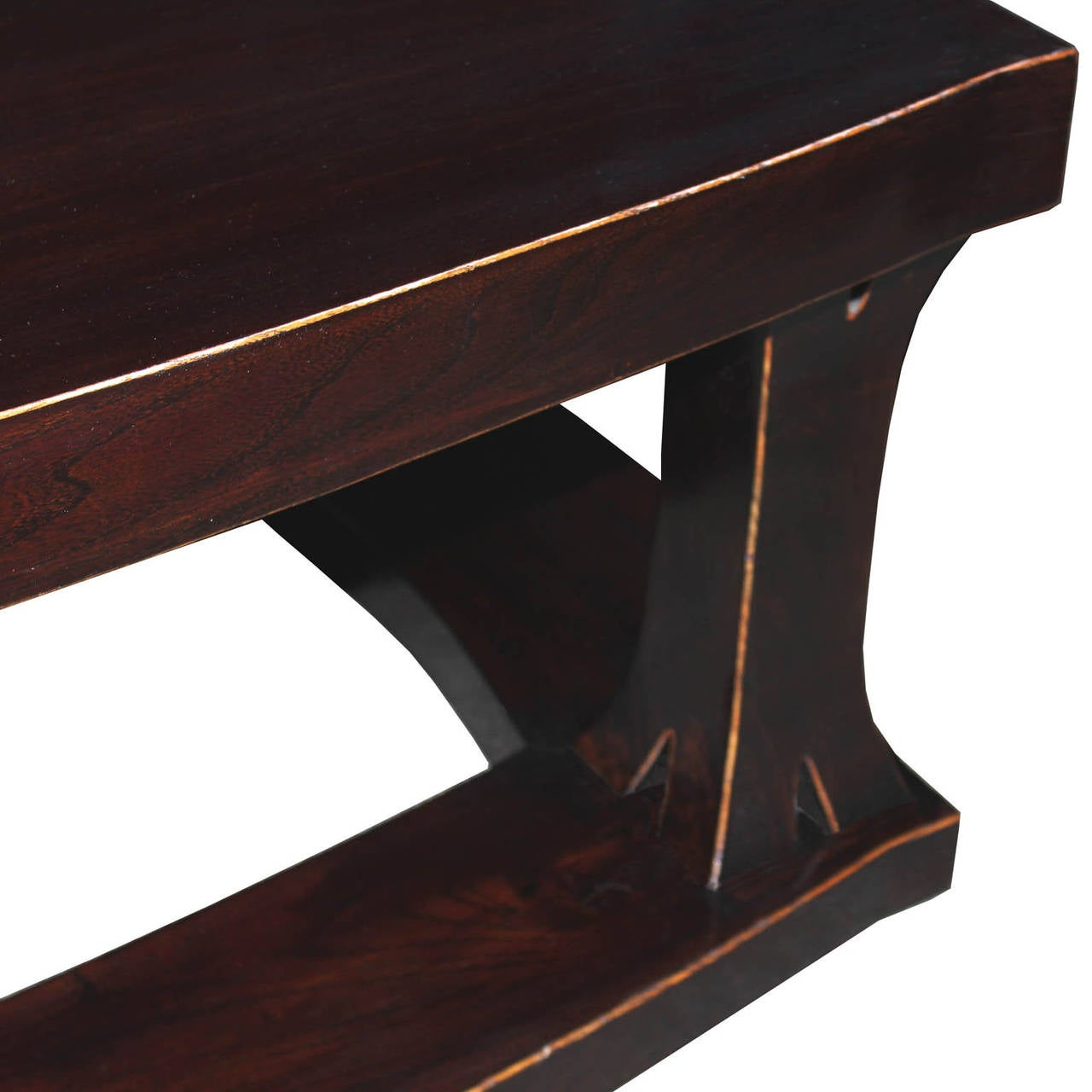 Eb Dark Brown Coffee Table For Sale At 1stdibs