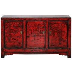 Three-Door Red Buffet