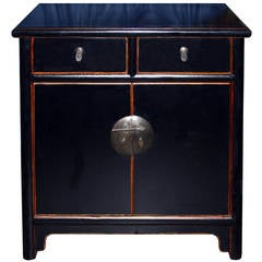 Black Two-Drawer Chest