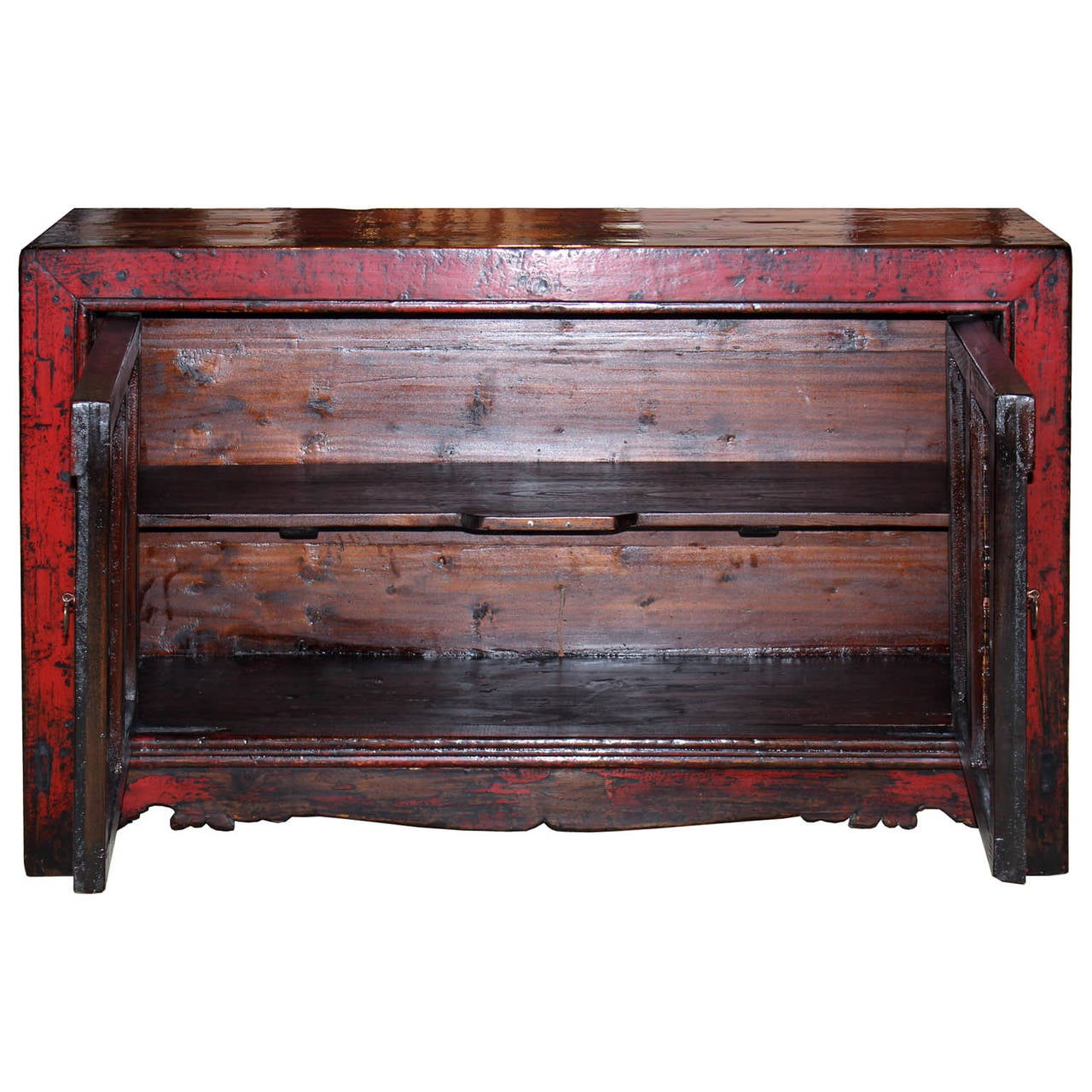 Chinese Gansu Red Buffet For Sale