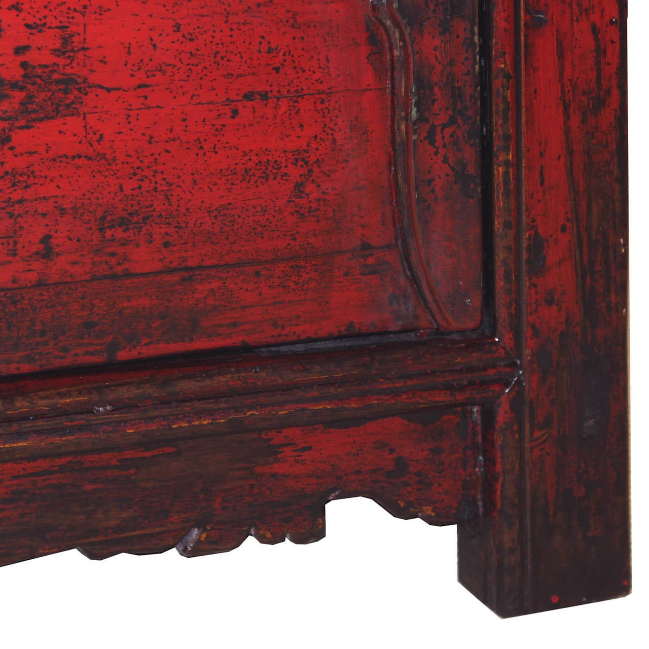 Late 19th Century Gansu Red Buffet For Sale
