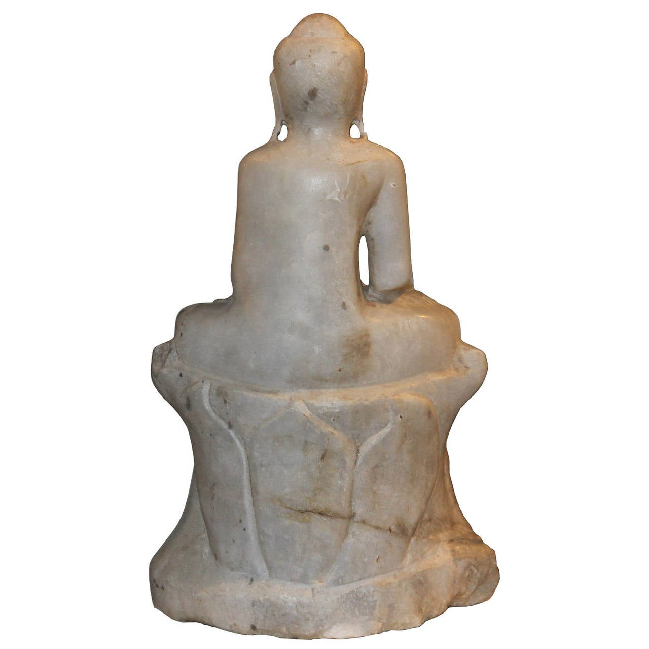 Marble Sitting Buddha In Good Condition For Sale In San Francisco, CA