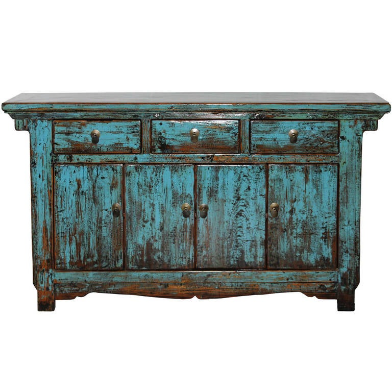 Shanxi light blue buffet for sale at 1stdibs for Chinese antique furniture singapore