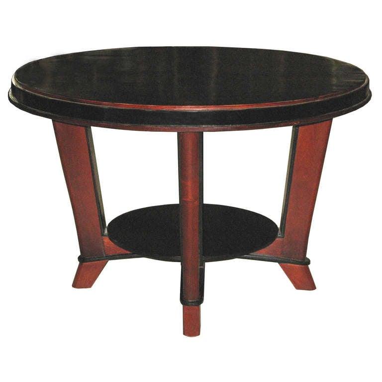 Round Mahogany Table At 1stdibs