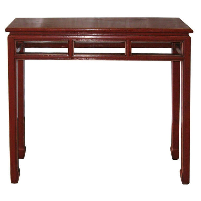 Vertical Console Table ~ Red console table at stdibs
