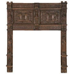 Huge Oak Gothic Fire Surround circa 1580