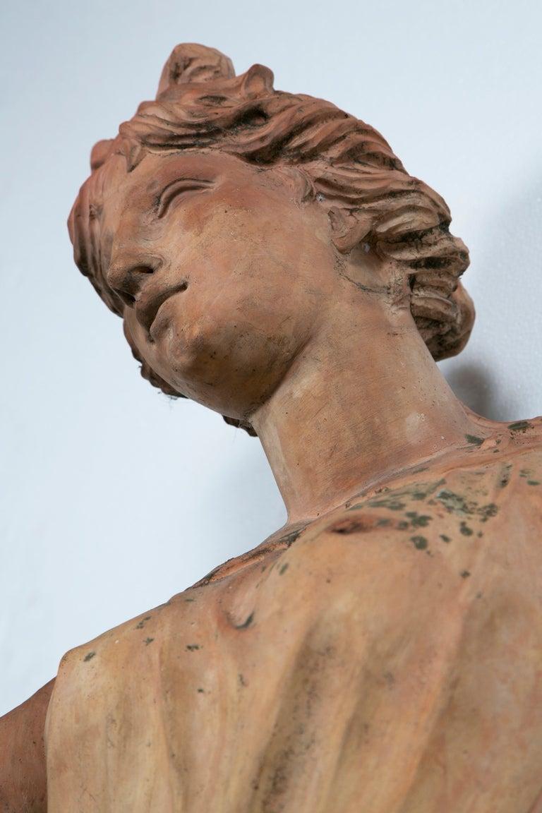 life size italian terra cotta statue of goddess flora at 1stdibs. Black Bedroom Furniture Sets. Home Design Ideas