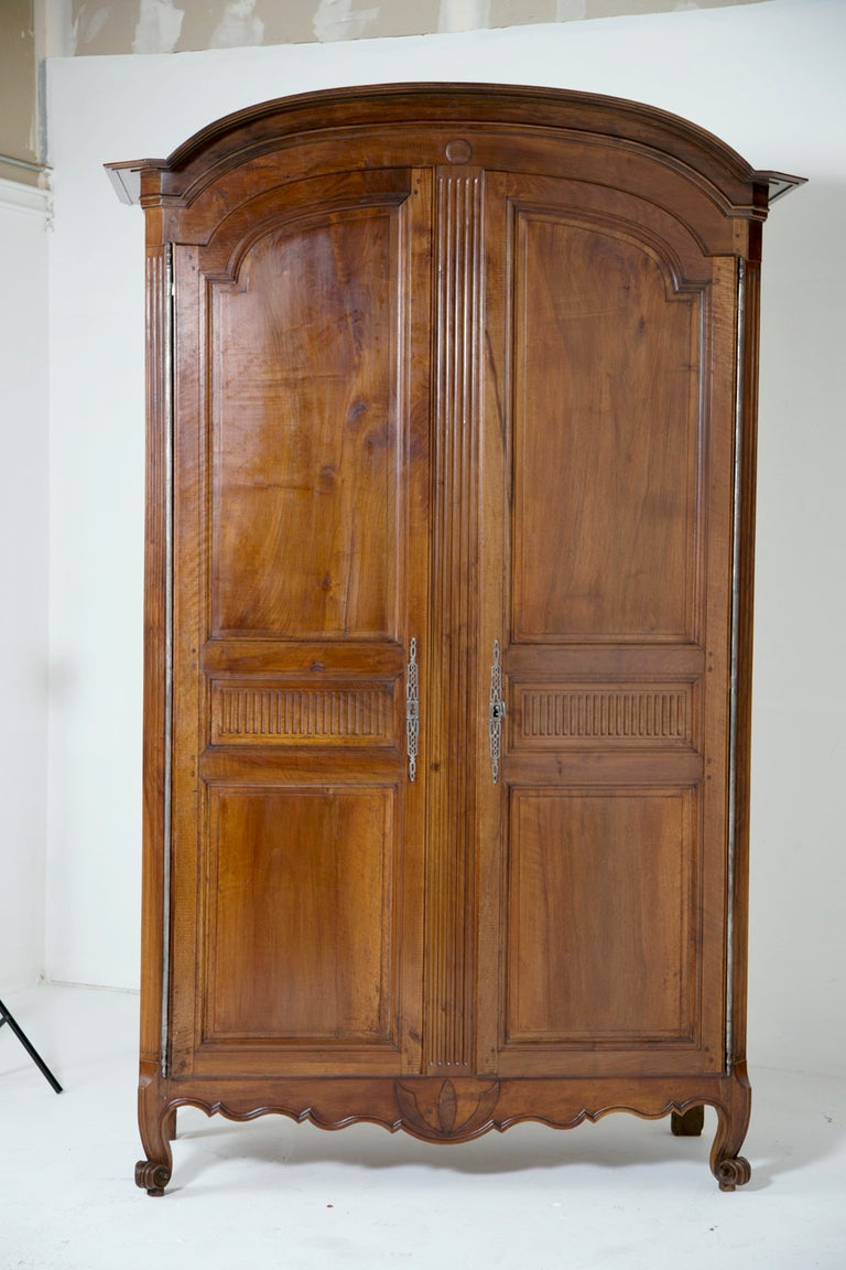 18th century louis xvi french fruitwood armoire for sale at 1stdibs. Black Bedroom Furniture Sets. Home Design Ideas
