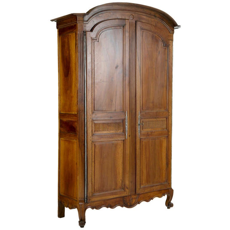 18th Century Louis XVI French Fruitwood Armoire
