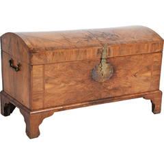 English or Dutch Walnut Trunk C. 1730