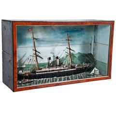 San Francisco Bay American Cased Nautical Diorama, circa 1900