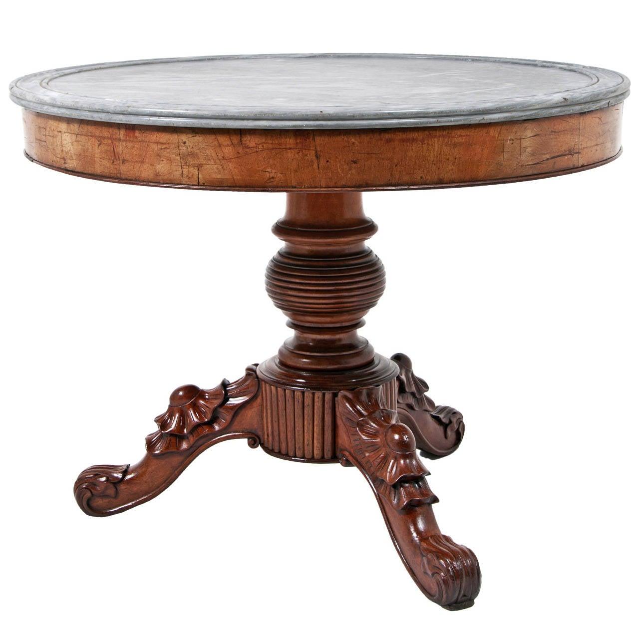 Louis Philippe Gueridon Or Center Table France Circa 1840 1