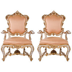 Vintage Venetian Pair of Chairs