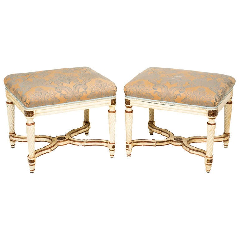 Pair of Early 20th Century Upholstered Benches