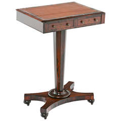 Early 19th Century Regency Rosewood Work Table