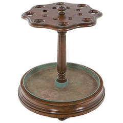 Large Antique English Oak Umbrella/Cane Stand, circa 1900