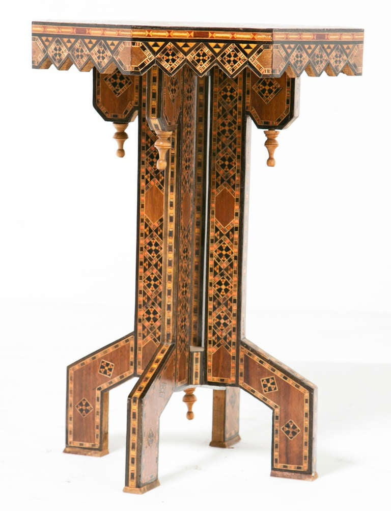 Vintage ottoman inlaid table at stdibs