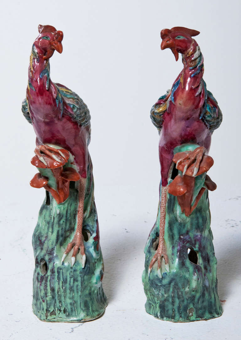 Pair Of Phoenix Figurines Circa 1820 At 1stdibs