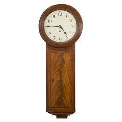Early 19th Century Regency Mahogany Tavern Clock