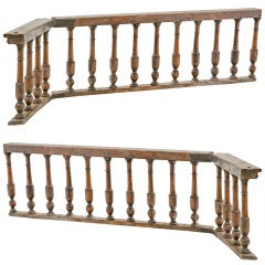 Pair of Baroque Italian Walnut Railings / Gates