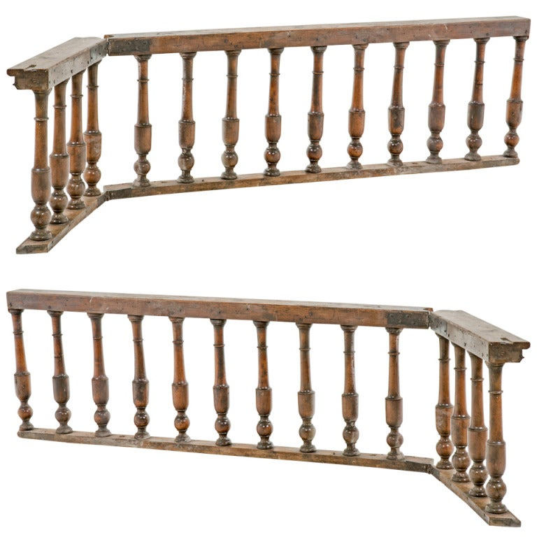 Pair of Baroque Italian Walnut Railings / Gates For Sale