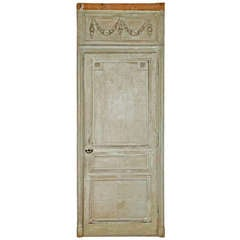 Pair of 18th Century Louis XVI Painted Doors from Falcon's Lair, LA