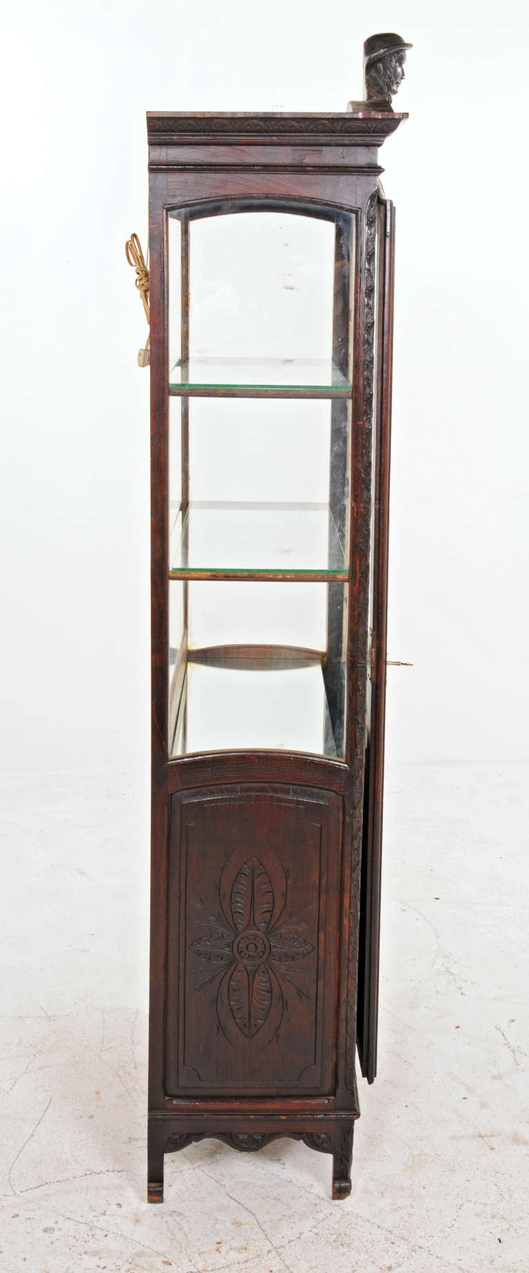 Decorative french oak vitrine cabinet circa 1890 at 1stdibs for 1890 kitchen cabinets