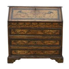 18th century Italian Baroque Painted Desk