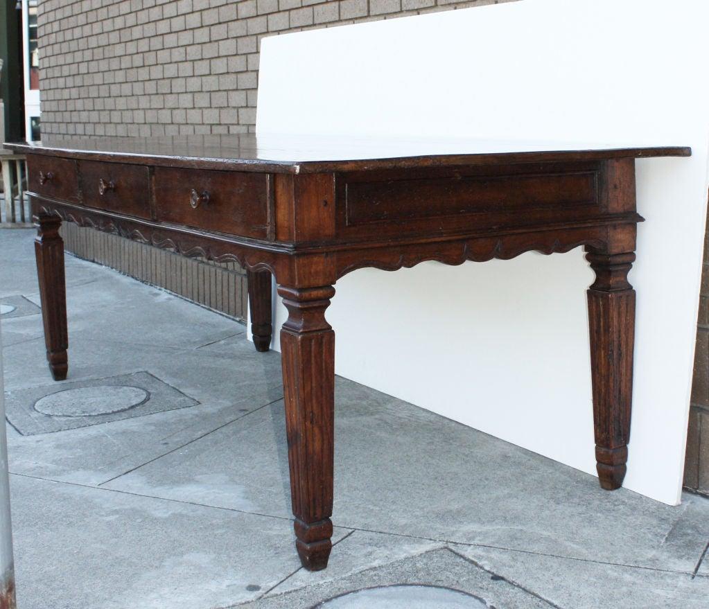 large italian walnut farmhouse table image 4