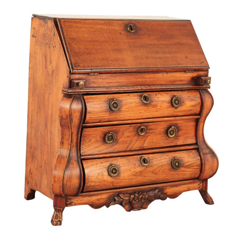 Charming Miniature Secretary Desk At 1stdibs