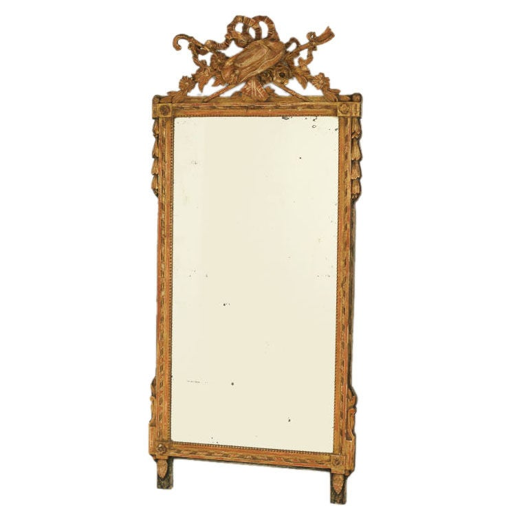 Antique louis xvi style mirror at 1stdibs for Antique style wall mirror
