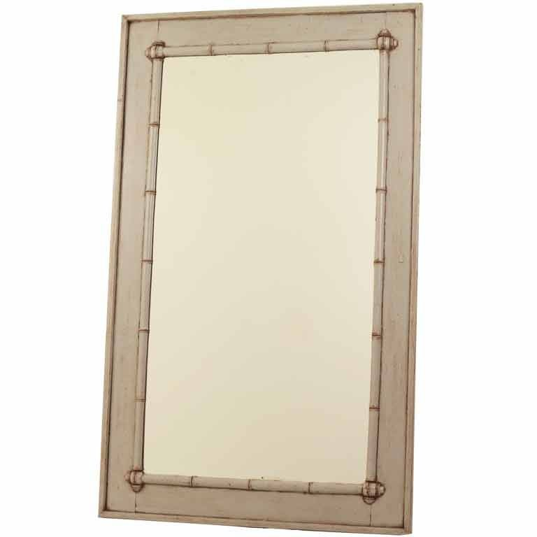 large painted faux bamboo mirror at 1stdibs