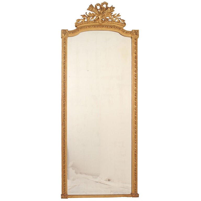 very large antique french louis xvi style mirror at 1stdibs