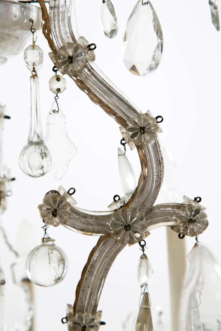 Maria Theresa Glass And Crystal Chandelier At 1stdibs