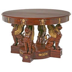 Large Baltic Neoclassical Center Table, 19th century