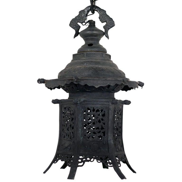 Hanging Japanese Lamp: Japanese Hanging Lantern At 1stdibs