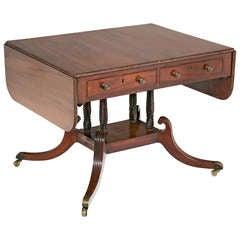 English Regency Mahogany Sofa/Writing Table, circa 1815